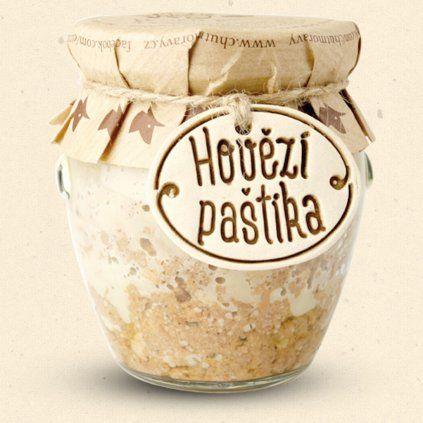 Chuť Moravy - Hovězí paštika je v bio kvalitě a i následný proces výroby probíhá bez přidání jakýchkoliv chemických konzervantů vyjma soli, můžeme hrdě prohlásit tuto paštiku za vyloženě zdravou. 170 g Chuť Moravy s.r.o.