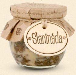 Chuť Moravy  - Slanináda - představte s džem, který je tak akorát sladký, ale zároveň i slaný, malinko pikantní, voňavý po koření a kouscích vypečené slaniny. Výborný za studena i lehce ohřátý. 200 ml
