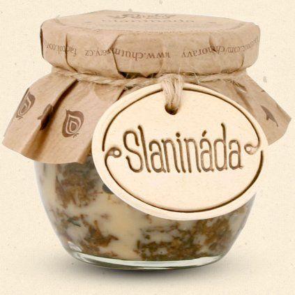 Chuť Moravy - Slanináda - představte s džem, který je tak akorát sladký, ale zároveň i slaný, malinko pikantní, voňavý po koření a kouscích vypečené slaniny. Výborný za studena i lehce ohřátý. 200 ml Chuť Moravy s.r.o.