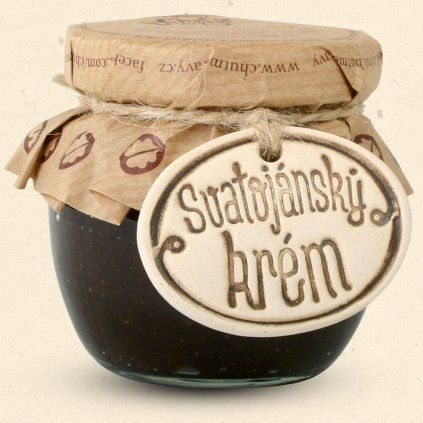Chuť Moravy - Svatojánský krém - jedinečný sladký krém, který spojuje chuť svatojánských ořechů, hořké čokolády a jemného ořechového karamele. 100 ml Chuť Moravy s.r.o.
