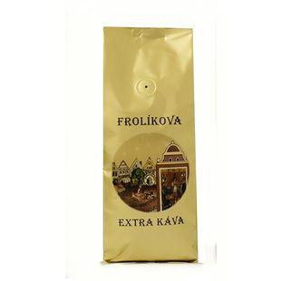 Frolíkova Extra káva 1000g zrnková - Jedná se o 100% Arabiku ze Střední Ameriky a Asie. Jan Frolík - Pražírna kávy