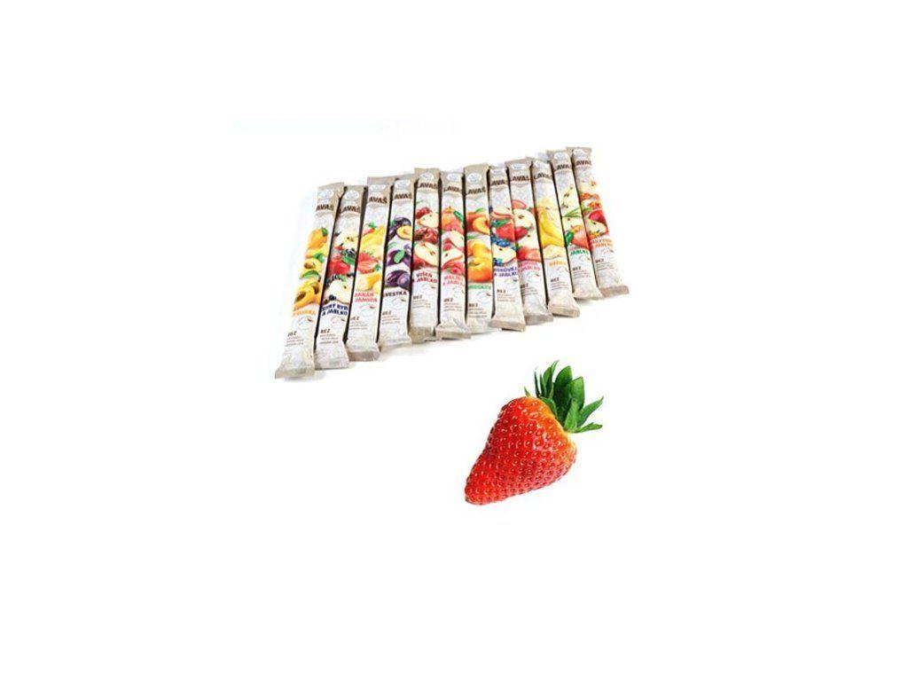 Nara - natur JAHODA ovocná trubička SLAZENÁ - vynikající osvěžující tyčinka ze 100% jahodové šťávy 140 g Nara-natur