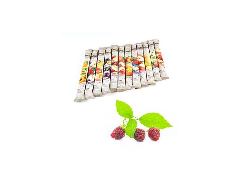 Nara - natur MALINA ovocná trubička SLAZENÁ - vynikající osvěžující tyčinka ze 100% malinové šťávy 140 g Nara-natur