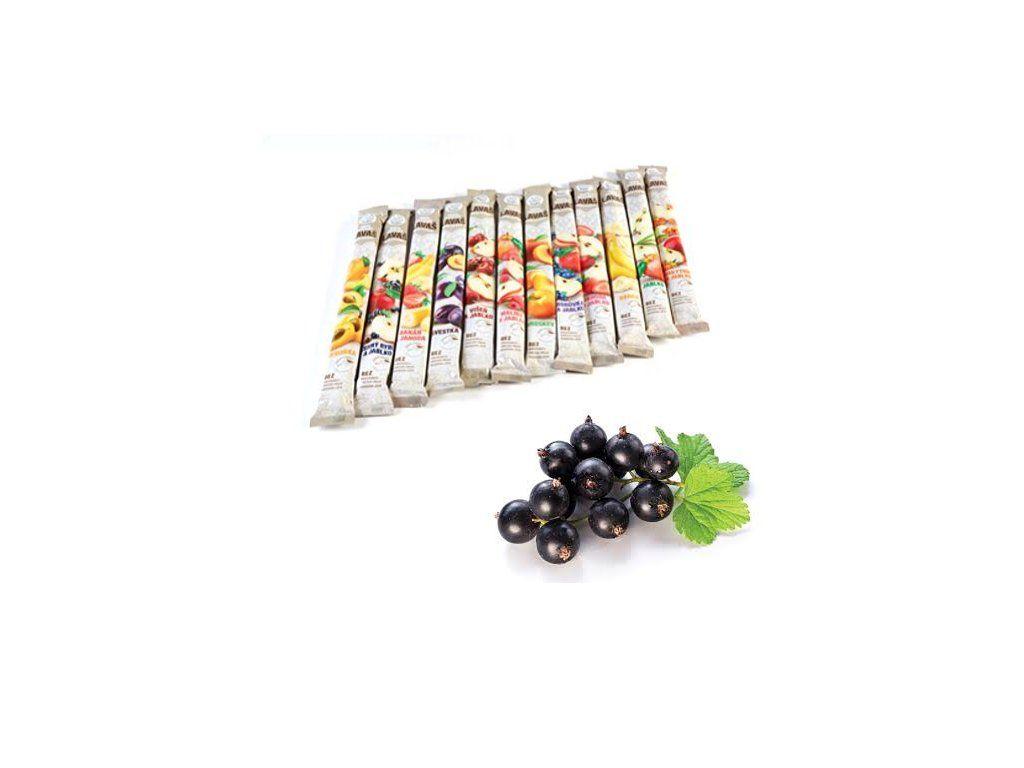 Nara-natur Černý rybíz & Jablko ovocná trubička NESLAZENÁ - vynikající osvěžující tyčinka ze 100% rybízovo-jablkové šťávy, 33 x 40 cm, min 140 g