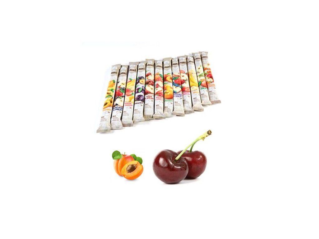 Nara-natur Višeň & Meruňka ovocná trubička NESLAZENÁ - vynikající osvěžující tyčinka ze 100% višňovo - meruňkové šťávy, 33 x 40 cm, min 140 g