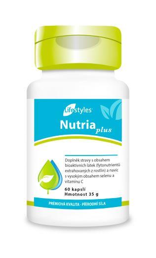 NutriaPlus je doplněk obsahující ovocné a zeleninové koncentráty, rostlinné extrakty, vitamín C a selen, který přispívá k ochraně buněk před oxidačním stresem! Lifestyles